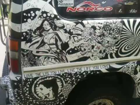 Sharpie Art Car Delica Van By Artist Luis Enrique Oliver Youtube