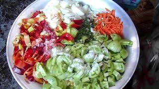 Зеленый салат на зиму