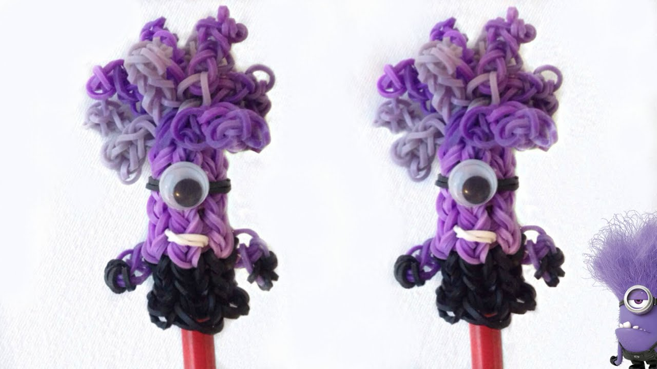 how to make a pencil topper with loom bands