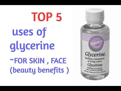 TOP 5 ways to use glycerine  for SKIN , FACE & NECK  BEAUTY BENEFITS OF GLYCERINE