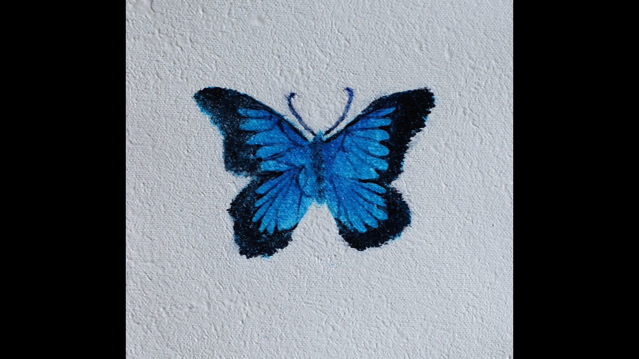 How To: Paint a Butterfly Using Acrylics - YouTube for Butterfly Painting Designs  75tgx