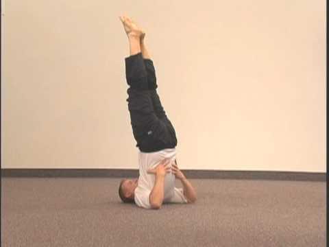 "simple yoga pose chakra 5 asana 6 ""shoulder stand"