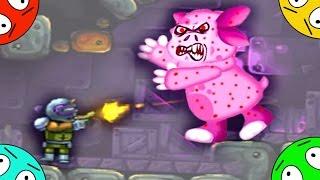 🐾 Охота на зомби Лунтика #1! Приземление на опасную планету! Мультик Игра. Мультфильм для детей.