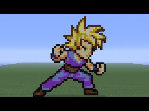Minecraft Pixel Art Teen Gohan Tutorial