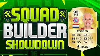 FIFA 16 SQUAD BUILDER SHOWDOWN!!! ARJEN ROBBEN!!! 90 Rated Robben Squad Builder Duel