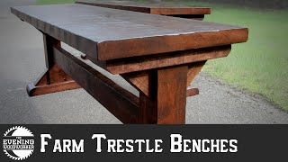 Farmhouse Bench with Mortise & Tenon Joinery | Evening Woodworker