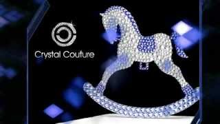Crystal Couture Rocking Horse Cake Topper