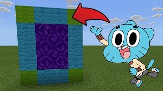 How To Make a Portal to the GUMBALLS Dimension in MCPE (Minecraft PE)