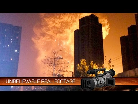 Extremely Close Dashcam Footage Of The Tianjin Port Explosion