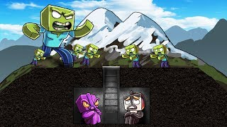 Minecraft   SECRET ZOMBIE BASE CHALLENGE! (Quiet or The Zombies Attack)