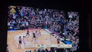 Mississippi State Buzzer Beater REACTION vs Uconn Womens Basketball Final Four 2017