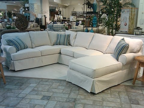 Slipcover For Sectional Sofa With Chaise - YouTube