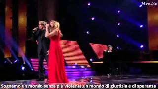 Lara Fabian ft Michael Bolton-The prayer  with lyrics
