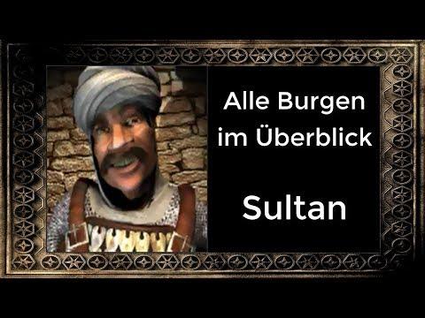 Der Sultan - Alle Burgen im Überblick! | Stronghold Crusader (German)
