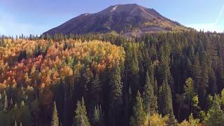 Crested Butte Aerial Footage - Fall Foliage