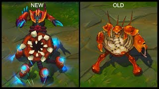 All Urgot Skins New and Old Texture Comparison Rework 2017 (League of Legends)