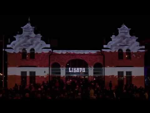 Proclamation Day of the Republic of Latvia Video projections by Minus 8