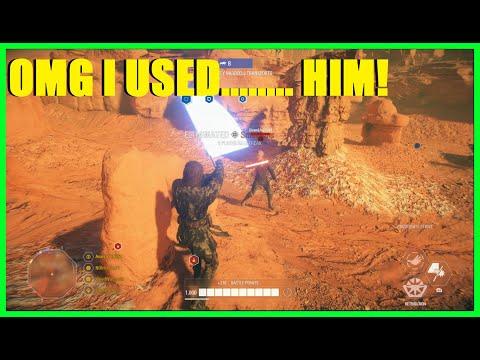Star Wars Battlefront 2 - OMG I used Anakin (Knockdown) Skywalker XD | Anakin Killstreak! thumbnail