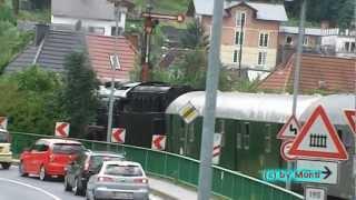 DB Sonderzug + Tender + Dampflok BR 41 360 + Pfiffen (Zugfahrt durch das Ahrtal) (HD)