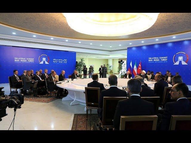 Встреча с Президентом Ирана Хасаном Рухани и Президентом Турции Реджепом Тайипом Эрдоганом
