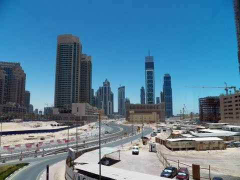 HD Dubai Metro Train System Stations and Riding the Train Red Line مترو دبي