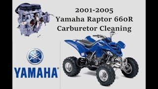 2001-2005 Yamaha Raptor 660R carburetor cleaning