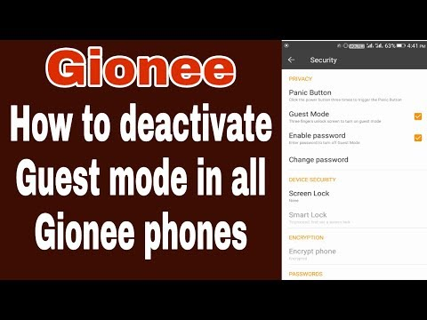 Gionee Guest Mode Password Forgot/ How To Remove Guest Mode In Gionee Phones