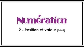 Numération ( 1/2)