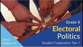 Electoral Political Class 9 Civics Explanation In Hindi  Part 1