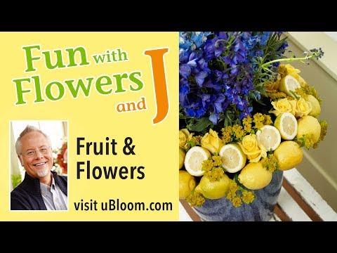 How to Arrange Flowers: Create a Fruit and Flower Arrangement
