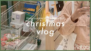 christmas vlog : shopping & eating at ikea, room decor, daily life | yellowpeach