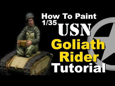 How To Paint 1/35 US World War Two Infantry Uniforms + Goliath TUTORIAL