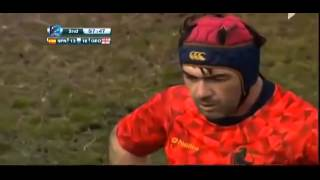 Spain vs Georgia Rugby fight