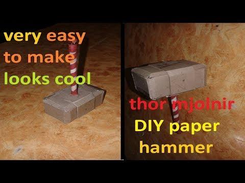 """""""DIY paper thor hammer""""(Let's make a paper mjolnir)"""