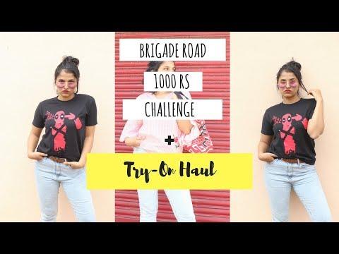 1000 Rs challenge Brigade Road + Try-on Haul | Bangalore Haul | Vaishnavi Rao