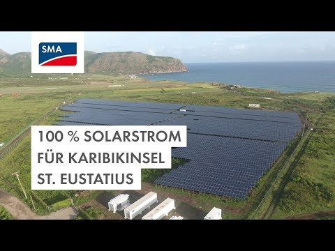 100 % Solarstrom für Karibikinsel St. Eustatius