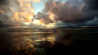 """Beautiful sunset"" ""time lapse"" video. Relax to the beautiful waves and cello music."