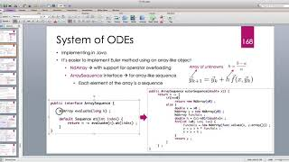 Java for Scientific Computing: Systems of Ordinary Differential Equations -- Part 1