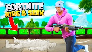 Playing HIDE & SEEK with Fortnite CUSTOM SKINS!