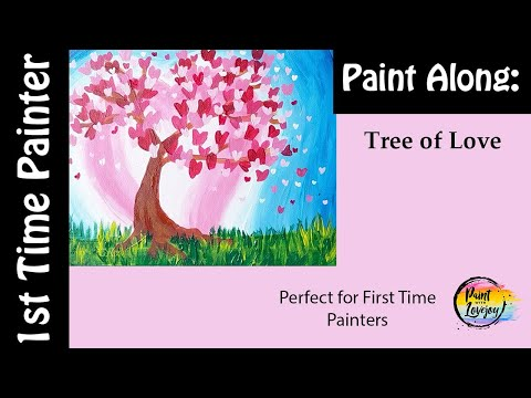 easy-painting-for-first-timer:-tree-of-love❤---step-by-step-acrylic-painting