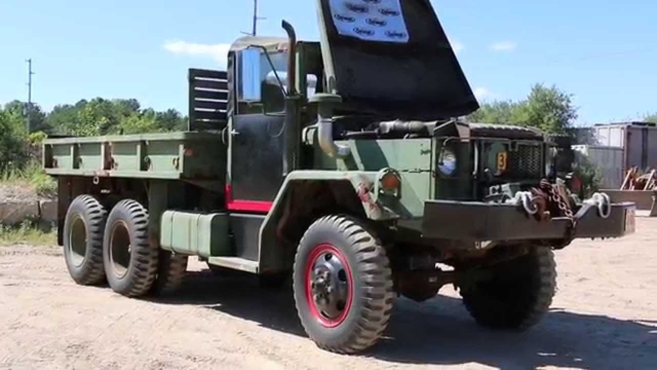 Plow Truck For Sale >> 1970 M35A2 2.5 Ton Kaiser Jeep Deuce And A Half 6x6 Military Cargo Truck - YouTube