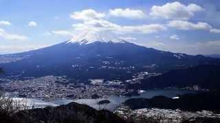 天子~御坂山地の稜線を歩きながら撮影した富士山の映像を集めた動画で...