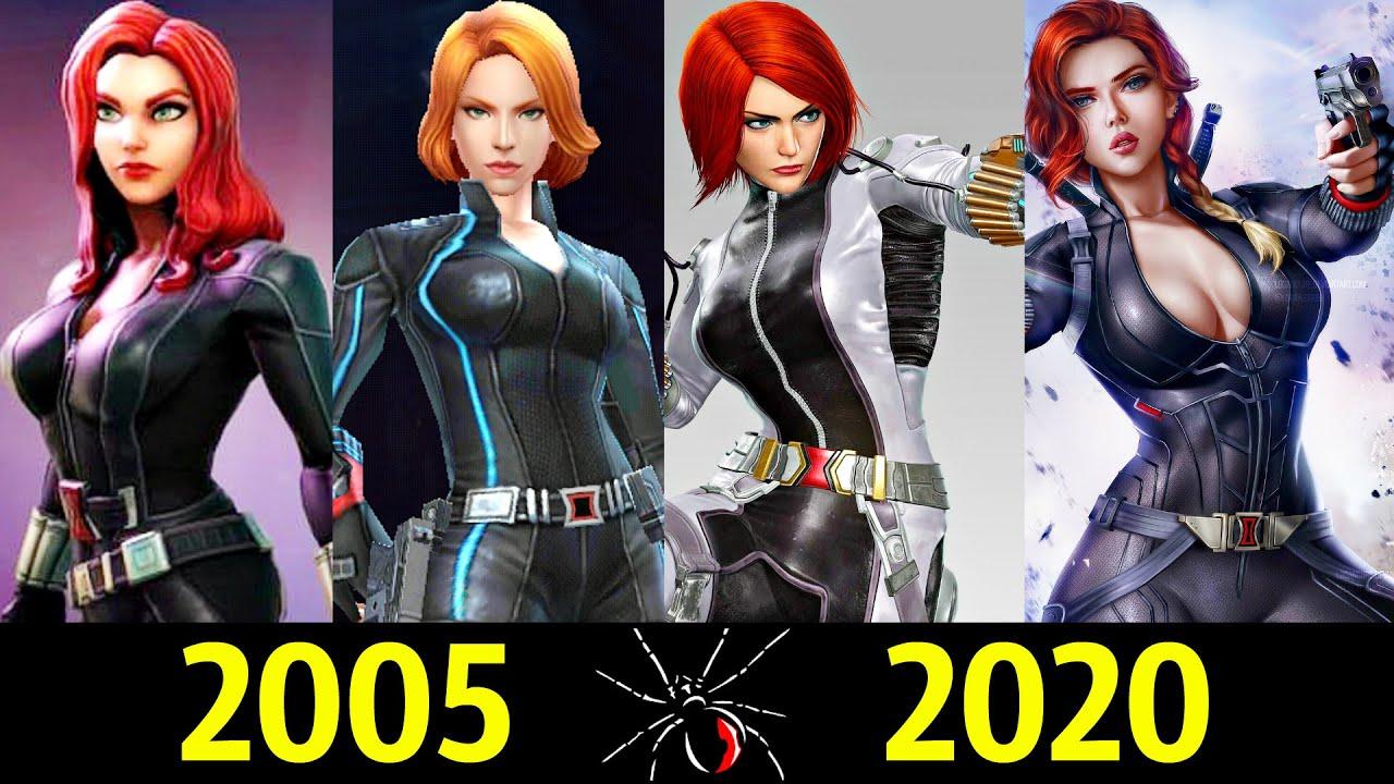 ⚫ Черная Вдова - Эволюция в Играх (2005 - 2020) 👊!
