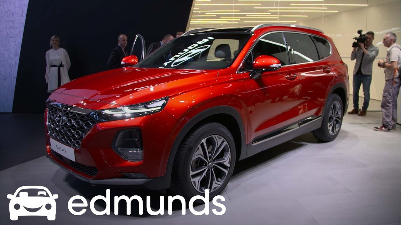 2019 Hyundai Santa Fe Unveil Edmunds Youtube
