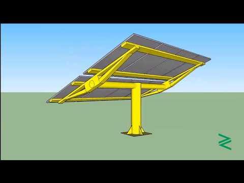 Zorays Solar Pakistan Sun Tracked Pole Animation