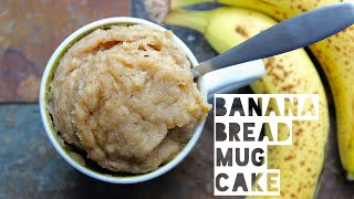 1 Minute Banana Bread Mug Cake | Healthy Banana Bread Mug Cake Recipe