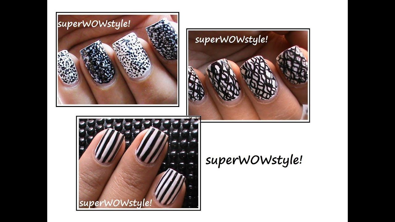 3 easy nail designs for lazy girls nail art designs youtube prinsesfo Choice Image
