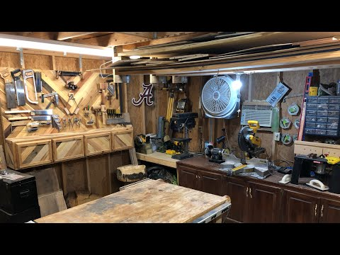 2019 Shop Tour //Small Shop//Woodworking Shop// Dimensions Wood Works