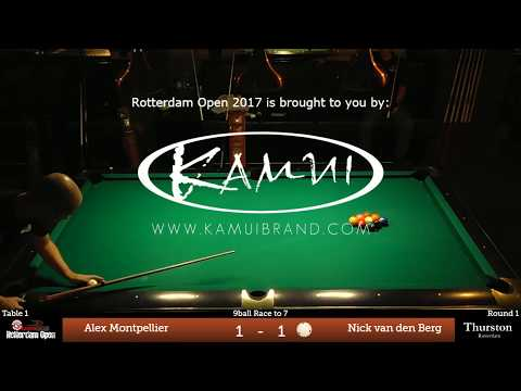 Alex Montpellier (FRA) v Nick van den Berg (NL) | Rotterdam Open 2017 | Round 1
