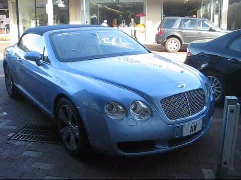 Baby Blue Bentley Continental Gtc Youtube